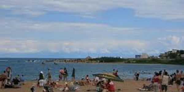 Issik Kul spiaggia