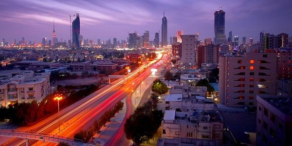 Kuwait City di notte